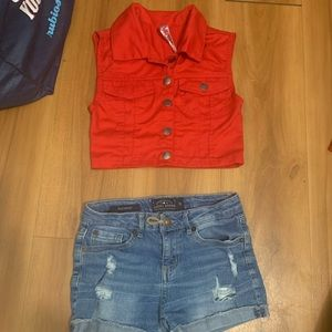 Red Vest for girls size 7/8